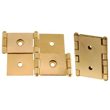 Restorers Classic Steel Room Divider Panel Hinge - Polished Brass