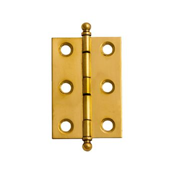 Restorers Solid Brass Mortise Hinge with Removeable Finials