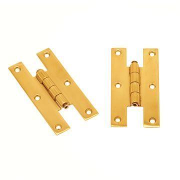 Restorers Solid Brass H Hinge