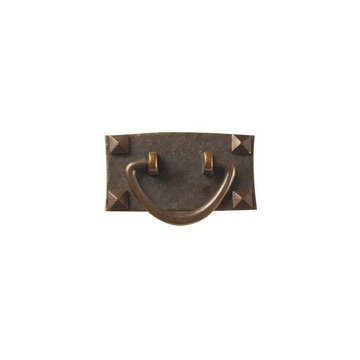 ANTQ COPPER STICKLEY DRAWER PULL W/SCREWS