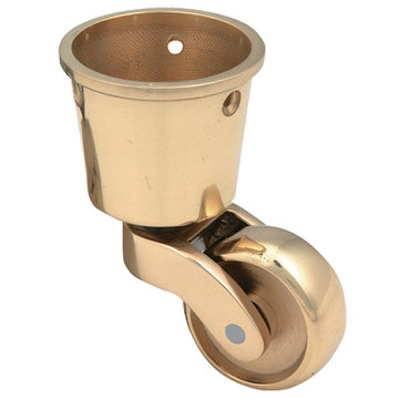 Armac Solid Brass Round Cup Caster