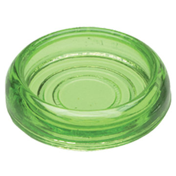 3 DIA. GREEN GLASS COASTERS SET/4