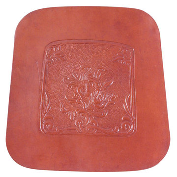 BOUQUET SQUARE LEATHER CHAIR SEAT
