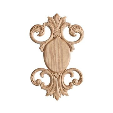 OAK EMBOSSED APPLIQUE 7 X 11 1/8