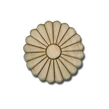 Round Embossed Daisy Applique - 1 Inch or 3 1/2 Inch