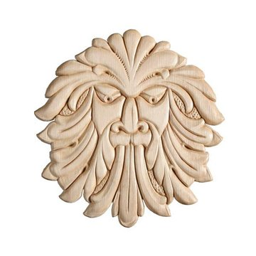 Face Embossed Wood Applique - 6 Inch