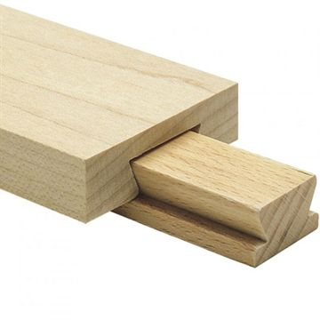 Center Mount 2 Inch x 28 Inch Maple Drawer Slide