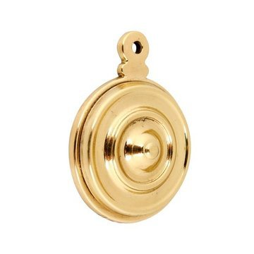 Polished Brass Bullseye Bolt Hole Cover