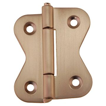 "Restorers Classic Butterfly-Shaped 3/8"" Offset Hoosier Hinge"