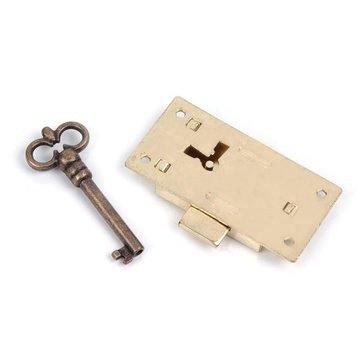 Restorers Brass Lock Set with Skeleton Key