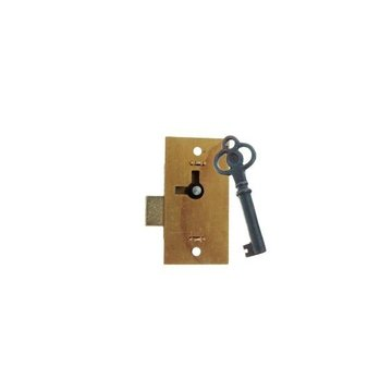 BRASS SURFACE MOUNT LOCK W/2 KEYS