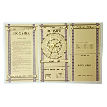 S4177 HOOSIER KITCHEN CHARTS-SET OF 3  (RM-KIT)