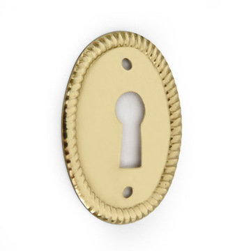 Restorers Classic 1 1/2 Inch Oval Keyhole Escutcheon