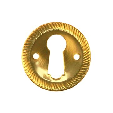 Restorers Classic Stamped Polished Brass Escutcheon