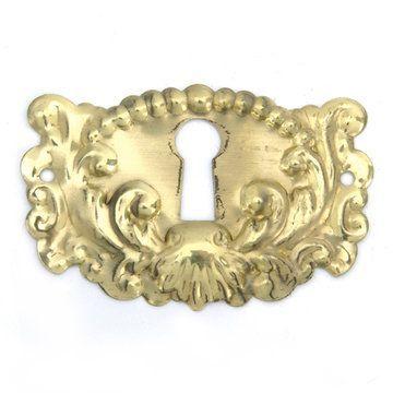 """Restorers Classic 1 7/8"""" Victorian Keyhole Escutcheon"""