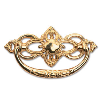 "Restorers Classic 4 3/8"" Victorian Brass Drawer Pull"