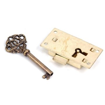 SMALL LOCK W/KEY 1 1/4X2 7/16