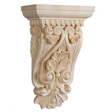 Wooden Unfinished Decorative Wood Corbels Brackets And Appliques