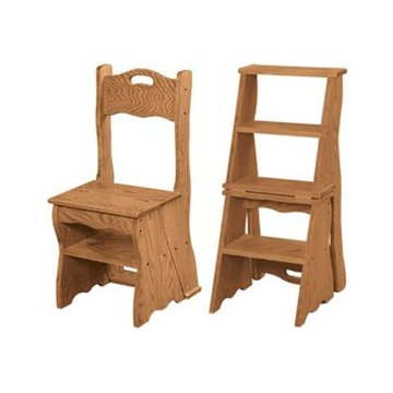 FOLDING CHAIR/LIBRARY STEP KIT (WOOD  HDW)