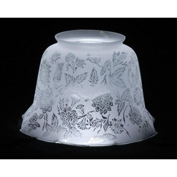 Victorian Floral Clear Frosted Lamp Shade