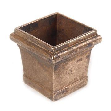 Marella Solid Brass Square Caster Cup