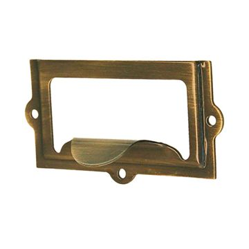 Restorers Classic 1401 Label Holder With Pull