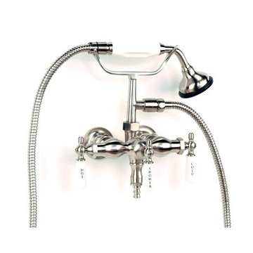 LEG TUB FAUCET WITH PORCELAIN LEVERS