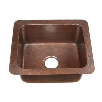 SM SNGL BOWL DROP-IN*PPD* HAND-HAMMERED COPPER SINK
