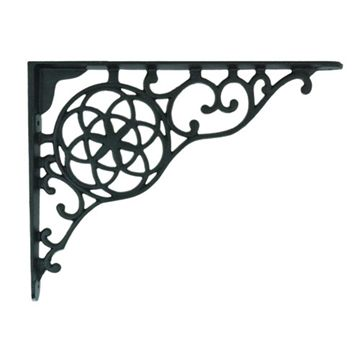 CIRCLE & STAR BLACK IRON SHELF* BRACKETS
