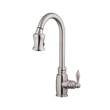 SINGLE HANDLE KITCHEN FAUCET WITH PULL DOWN SPRAY