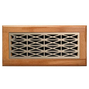 Accord Ventilation Products Trellis Design Oak Frame Register