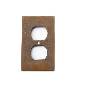 SOLID BRONZE DUPLEX OUTLET COVER