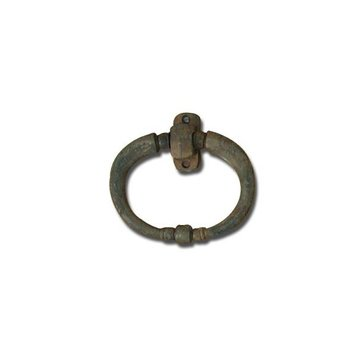 RUSTY IRON HEAVY OVAL CHEST HANDLE
