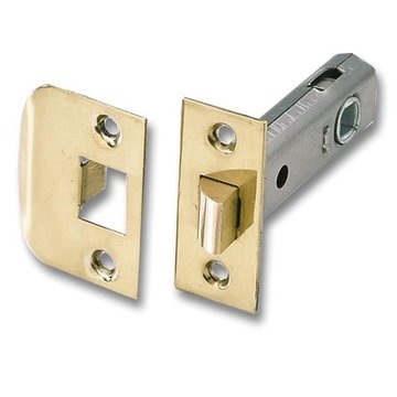BRS SPRING LOADED DOOR LATCH SET- 2 3/8BKSET