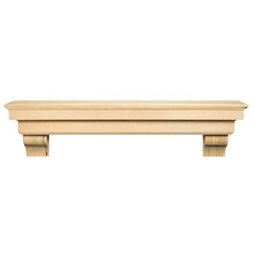 Pearl Mantels Auburn Unfinished Mantel Shelf