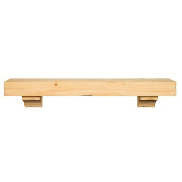 Pearl Mantels Shenandoah Unfinished Mantel Shelf