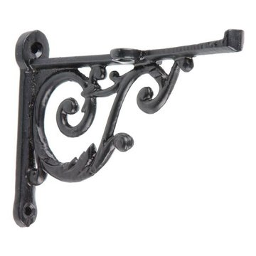 BLACK POWDERCOAT SHELF BRACKET 3 3/4 X 5