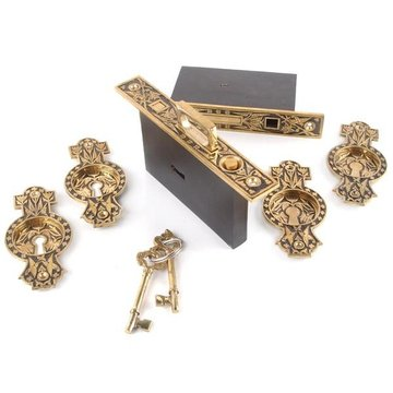 Restorers 8 Inch Hummingbird Pocket Door Mortise Lock Set