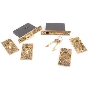 Restorers 8 Inch Rice Pocket Door Mortise Lock Set