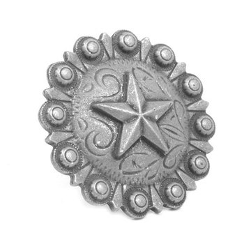 1 1/2 Inch Decorative Star Clavos - 6 Pack