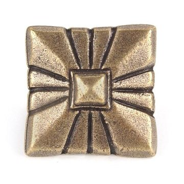 1 1/8 Inch Pyramid With Rays Square Clavos - 6 Pack