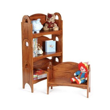 OAK CHILDS BENCH/STACKING SHELF KIT