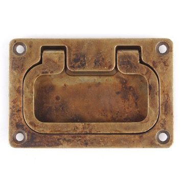 DISTRESSED ANTQ BRASS RECESSED PULL