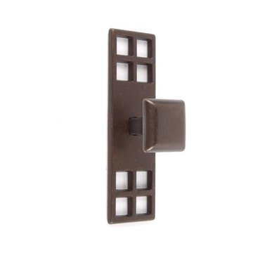Classic Hardware Square Knob with Arts And Crafts Backplate