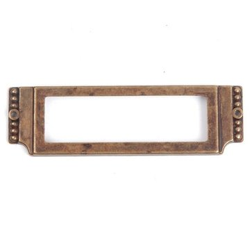 Classic Hardware Solid  Brass Label Holder