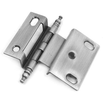 Classic Brass 3/8 Inch Solid Steel Offset Hinge