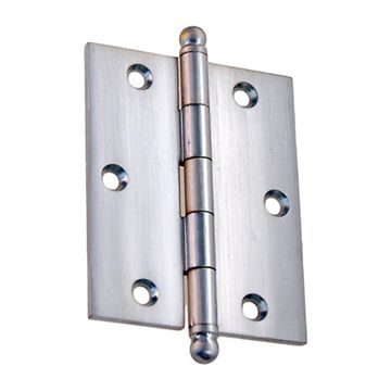 "Steel Mortise Hinge with Ball Tips – 2 1/2"" x 3 1/8"""