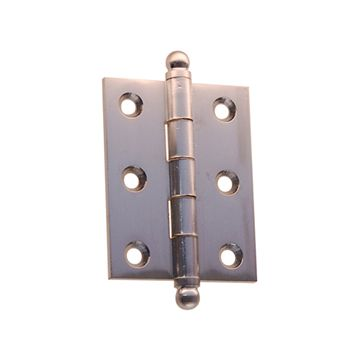 "Restorers Classic Mortise Hinge with Ball Tips – 1 1/2"" x 2 5/8"""
