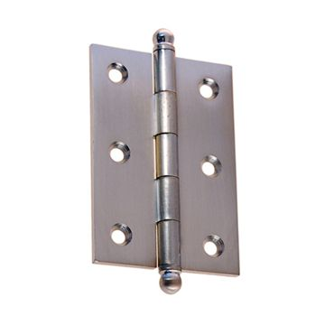 Restorers Classic Brass Mortise Hinge with Ball Tips - 1 3/4 x 3 1/2