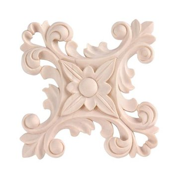 5 FLORAL CROSS APPLIQUE